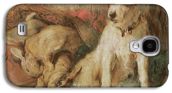Breed Of Dog Galaxy S4 Cases - Fox Terrier with the Days Bag Galaxy S4 Case by English School