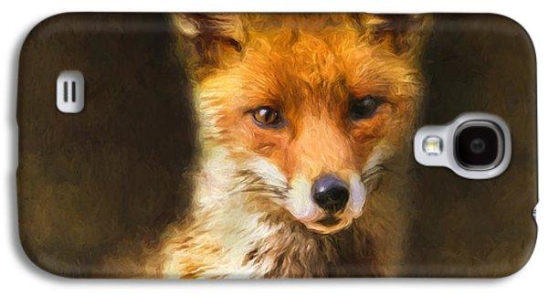 Fox Digital Galaxy S4 Cases - Foxy Loxy Galaxy S4 Case by Tara Lee Richardson