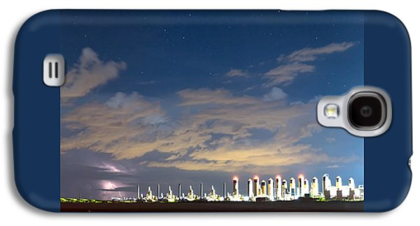 Light Galaxy S4 Cases - Fracking Lightning Storm Galaxy S4 Case by James BO  Insogna