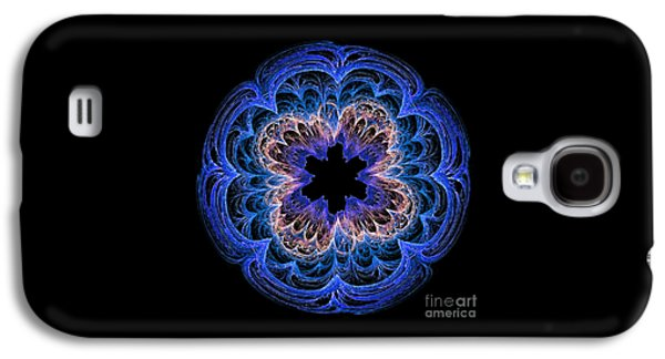 Purple Abstract Beige Galaxy S4 Cases - Fractal Art Blues by Kaye Menner Galaxy S4 Case by Kaye Menner