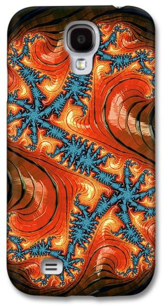 Fractal Design Blue Orange Red Galaxy S4 Case by Matthias Hauser