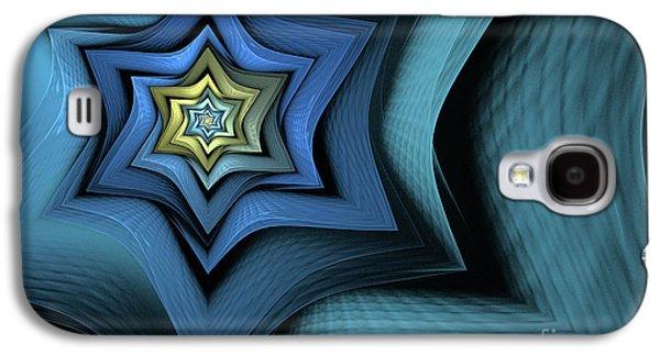 Abstract Digital Digital Galaxy S4 Cases - Fractal Star Galaxy S4 Case by John Edwards
