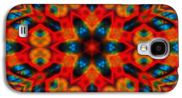 Digital Tapestries - Textiles Galaxy S4 Cases - Fractal Window Galaxy S4 Case by Amanda LaPaglia