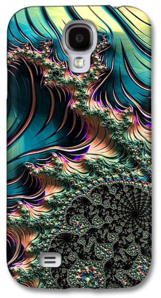 Business Galaxy S4 Cases - Fractalia Coralreefia Catus 1 no.1 V b Galaxy S4 Case by Gert J Rheeders