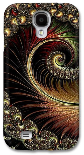 Abstract Digital Pastels Galaxy S4 Cases - Fractalia Irmania Catus 1 no. 1 V a Galaxy S4 Case by Gert J Rheeders