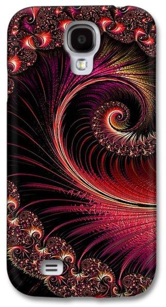 Abstract Digital Pastels Galaxy S4 Cases - Fractalia Irmania Catus 1 no. 3 V b Galaxy S4 Case by Gert J Rheeders