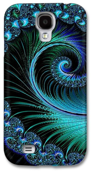 Abstract Digital Pastels Galaxy S4 Cases - Fractalia Irmania Catus 1 no. 6  V b Galaxy S4 Case by Gert J Rheeders