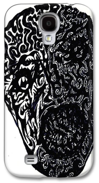 Abstract Digital Drawings Galaxy S4 Cases - Frailty Galaxy S4 Case by Ashley Teeter