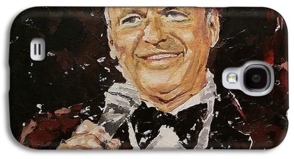 Frank Sinatra Paintings Galaxy S4 Cases - Frank Sinatra Galaxy S4 Case by Violeta Oprea