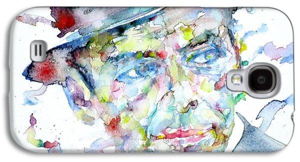 Frank Sinatra Paintings Galaxy S4 Cases - FRANK SINATRA - watercolor portrait.2 Galaxy S4 Case by Fabrizio Cassetta