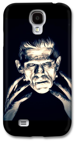 Electricity Drawings Galaxy S4 Cases - Frankenstein Galaxy S4 Case by Fred Larucci