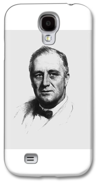Democrats Galaxy S4 Cases - Franklin Roosevelt Galaxy S4 Case by War Is Hell Store
