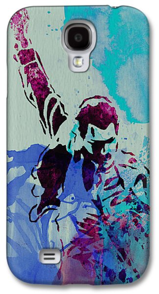 Watercolor Paintings Galaxy S4 Cases - Freddie Mercury Galaxy S4 Case by Naxart Studio