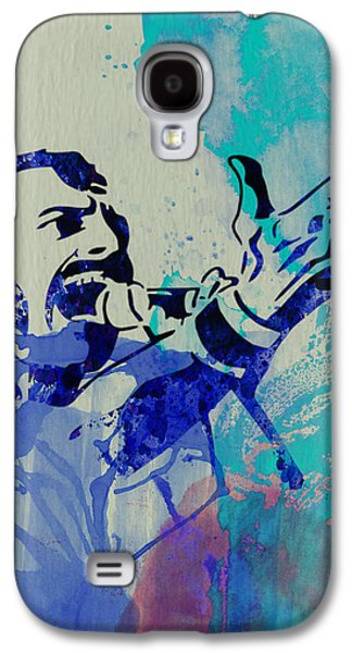 Stage Paintings Galaxy S4 Cases - Freddie Mercury Queen Galaxy S4 Case by Naxart Studio