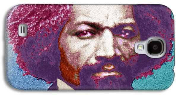 Frederick Douglass Painting In Color Pop Art Galaxy S4 Case by Tony Rubino