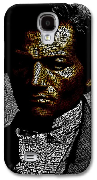 Frederick Douglass Word Mosaic Galaxy S4 Case by Hans Fleurimont