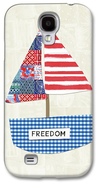 Freedom Boat- Art By Linda Woods Galaxy S4 Case by Linda Woods