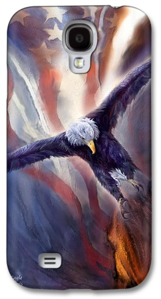 Eagle Mixed Media Galaxy S4 Cases - Freedom Eagle Galaxy S4 Case by Carol Cavalaris