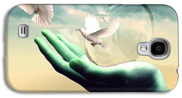 Spiritualism Galaxy S4 Cases - Freedom  Galaxy S4 Case by Mark Ashkenazi