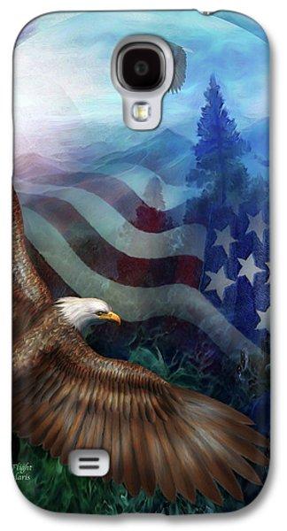 Eagle Mixed Media Galaxy S4 Cases - Freedoms Flight Galaxy S4 Case by Carol Cavalaris