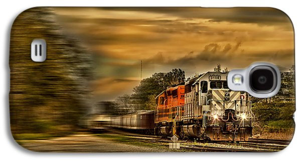 Transportation Photographs Galaxy S4 Cases - Freight Train Speeding Through the Countryside  Galaxy S4 Case by Kay Brewer