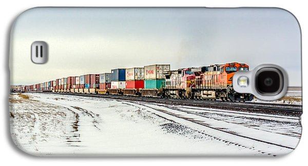 Freight Train Galaxy S4 Case by Todd Klassy