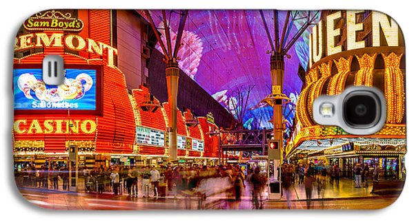 Lounge Galaxy S4 Cases - Fremont Street Casinos Galaxy S4 Case by Az Jackson