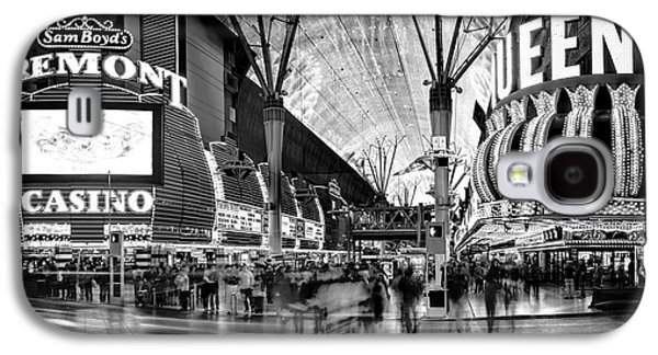 Las Vegas Galaxy S4 Cases - Fremont Street Casinos BW Galaxy S4 Case by Az Jackson