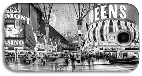 Long Street Galaxy S4 Cases - Fremont Street Experience BW Galaxy S4 Case by Az Jackson
