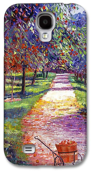 Pathway Paintings Galaxy S4 Cases - French Apple Orchards Galaxy S4 Case by David Lloyd Glover