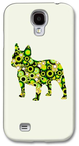 Abstract Digital Mixed Media Galaxy S4 Cases - French Bulldog - Animal Art Galaxy S4 Case by Anastasiya Malakhova