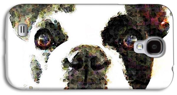 Dog Pop Art Galaxy S4 Cases - French Bulldog Art - High Contrast Galaxy S4 Case by Sharon Cummings