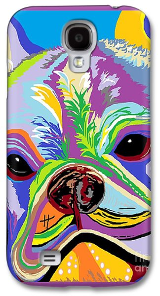 Recently Sold -  - Abstract Digital Galaxy S4 Cases - French Bulldog Galaxy S4 Case by Eloise Schneider