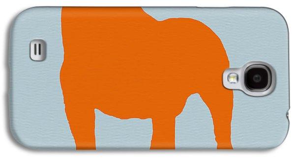 Puppies Digital Art Galaxy S4 Cases - French Bulldog Orange Galaxy S4 Case by Naxart Studio