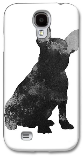 Dogs Jewelry Galaxy S4 Cases - French bulldog silhouette minimalist painting Galaxy S4 Case by Joanna Szmerdt
