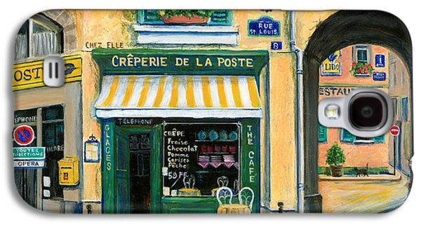 Street Paintings Galaxy S4 Cases - French Creperie Galaxy S4 Case by Marilyn Dunlap