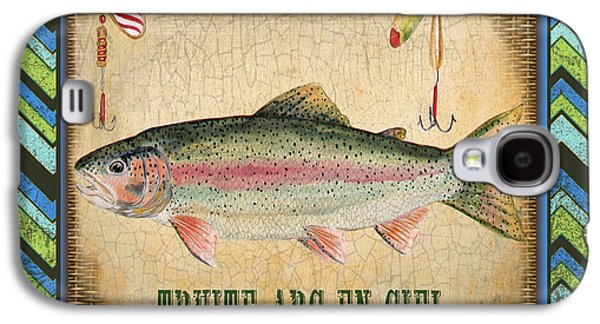 Rainbow Trout Digital Galaxy S4 Cases - French Fish-JP3116 Galaxy S4 Case by Jean Plout