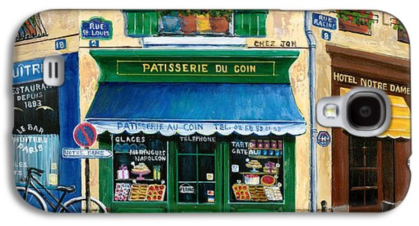 Restaurants Paintings Galaxy S4 Cases - French Pastry Shop Galaxy S4 Case by Marilyn Dunlap