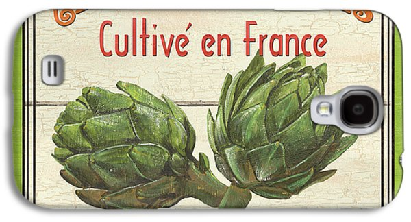 Organic Paintings Galaxy S4 Cases - French Vegetable Sign 2 Galaxy S4 Case by Debbie DeWitt