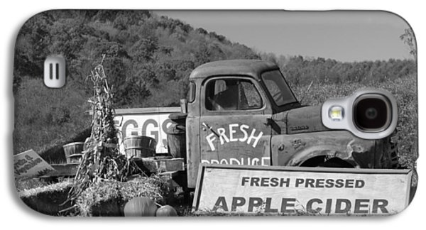 Farm Truck Galaxy S4 Cases - Fresh -- black and white Galaxy S4 Case by Suzanne Gaff