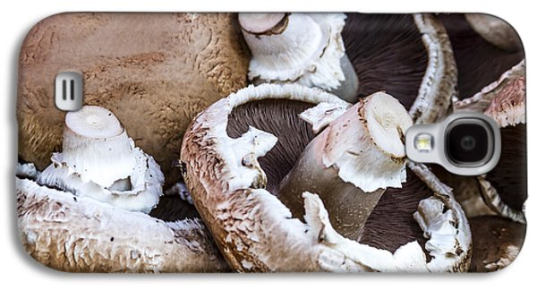 Locally Grown Galaxy S4 Cases - Fresh Portabella Mushrooms Galaxy S4 Case by Teri Virbickis