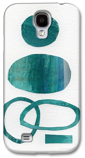 Modern Abstract Galaxy S4 Cases - Fresh Water Galaxy S4 Case by Linda Woods