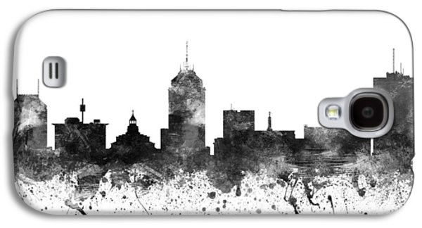Skylines Drawings Galaxy S4 Cases - Fresno California Cityscape 02BW Galaxy S4 Case by Aged Pixel