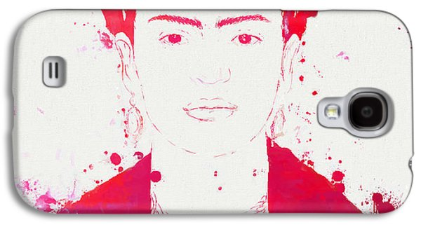 Painter Mixed Media Galaxy S4 Cases - Frida Kahlo Paint Splatter Galaxy S4 Case by Dan Sproul