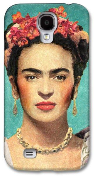 Diego Rivera Galaxy S4 Cases - Frida Kahlo Galaxy S4 Case by Taylan Soyturk