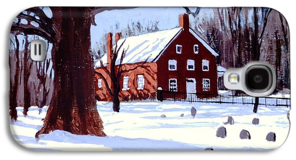 Quaker Paintings Galaxy S4 Cases - Friends House Galaxy S4 Case by David Zimmerman