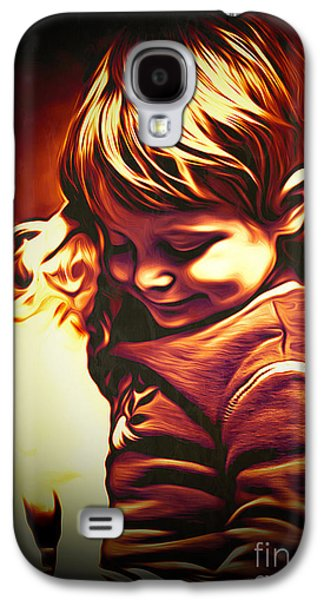 Dogs Digital Art Galaxy S4 Cases - Friends Galaxy S4 Case by Larry Espinoza