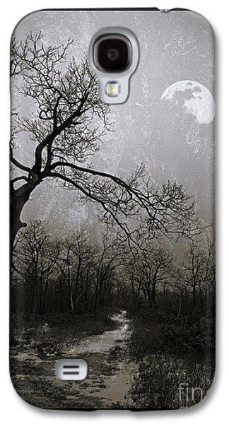 Gnarly Galaxy S4 Cases - Frigid Moonlit Night Galaxy S4 Case by John Stephens