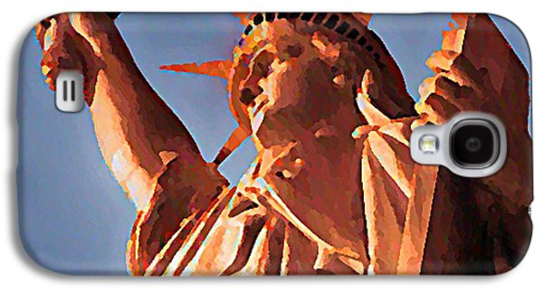 Statue Of Liberty Mixed Media Galaxy S4 Cases - Fringe Lady Liberty Galaxy S4 Case by Bill Cannon