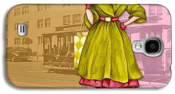 Mixed Media Galaxy S4 Cases - Frisco in the Fifties Shopping at I Magnin Galaxy S4 Case by Cindy Garber Iverson